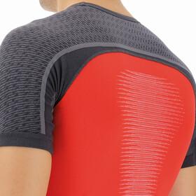 UYN Marathon Shortsleeve Shirt Men, high red/charcoal/white